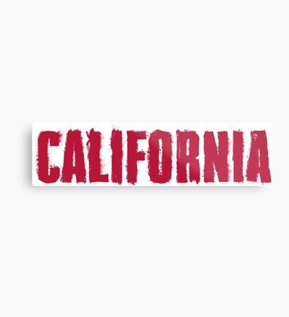 California Distressed Style Metal Print