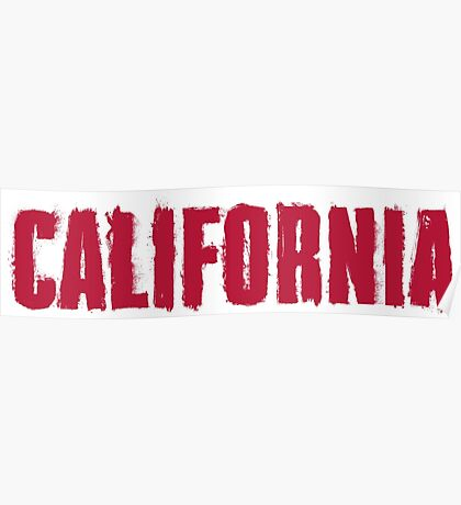 California Distressed Style Poster