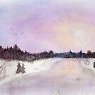 Winter landscape by Linda Ursin