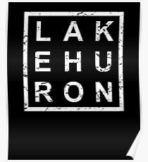 Stylish Lake Huron Poster