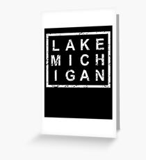 Stylish Lake Michigan Greeting Card
