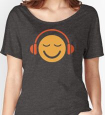 Music Smiley Face With Headphones NV907 New Product Women's Relaxed Fit T-Shirt