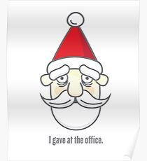 I gave at the office. Poster