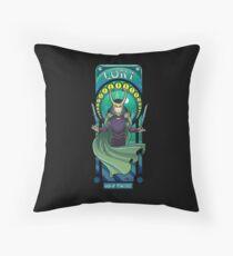 Mischief in Battle! Throw Pillow
