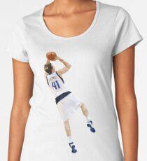 Dirk Nowitzki Fadeaway Women's Premium T-Shirt