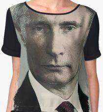 Watercolor Portrait of President of Russia, Vladimir Putin Chiffon Top