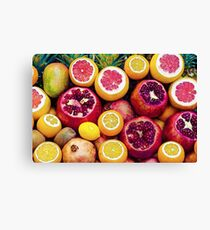Watercolor Superfood Combo Canvas Print