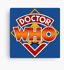Doctor who Classic Logo 1 Canvas Print