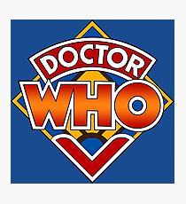 Doctor who Classic Logo 1 Photographic Print