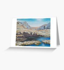 Peat Hags in Snowdonia Greeting Card