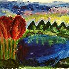 Autumn landscape by Tricia Johansson Furtado