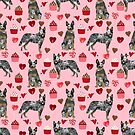 Australian Cattle Dog blue heeler valentines day cupcakes hearts love dog breed  by PetFriendly