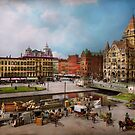 City - Syracuse NY - The Clinton Square Canal 1905 by Michael Savad