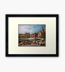 City - Syracuse NY - The Clinton Square Canal 1905 Framed Print