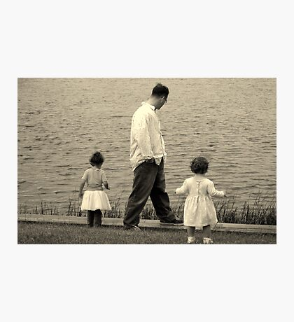 A walk with Dad Photographic Print