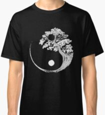 Yin Yang Bonsai-Baum Japanischer buddhistischer Zen Classic T-Shirt