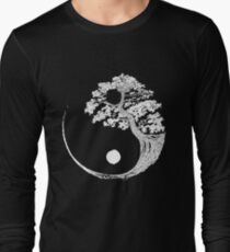 Yin Yang Bonsai Tree Japanese Buddhist Zen Long Sleeve T-Shirt
