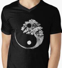 Yin Yang Bonsai Tree Japanese Buddhist Zen Men's V-Neck T-Shirt