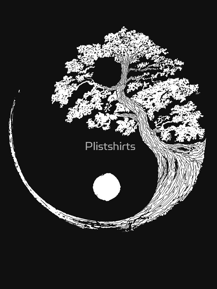 Yin Yang Bonsai-Baum Japanischer buddhistischer Zen von Plistshirts