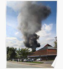 Column of smoke Poster