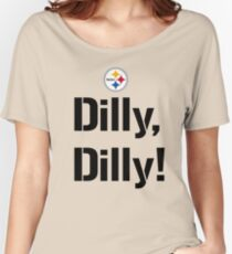 Bud Light Pit of Misery The Sequel Dilly Dilly Pittsburgh Steelers TV Commercial meaning philip rivers  Women's Relaxed Fit T-Shirt