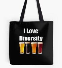 I love diversity Craft Beer lovers Tote Bag