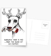 Rudolph das tote Nasen-Ren Postkarten
