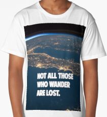 Traveller's quote Long T-Shirt