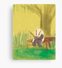 There's a Badger in that there Bayou! Canvas Print