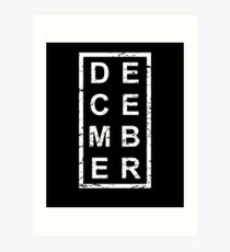 Stylish Birthday Born In December Art Print
