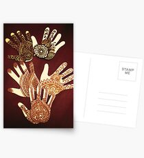 The many hands of Mehndi Postcards
