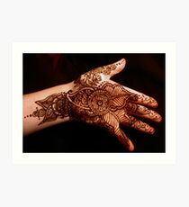 Lámina artística Henna floral No2
