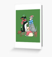 Cute Christmas Dogs Greeting Card