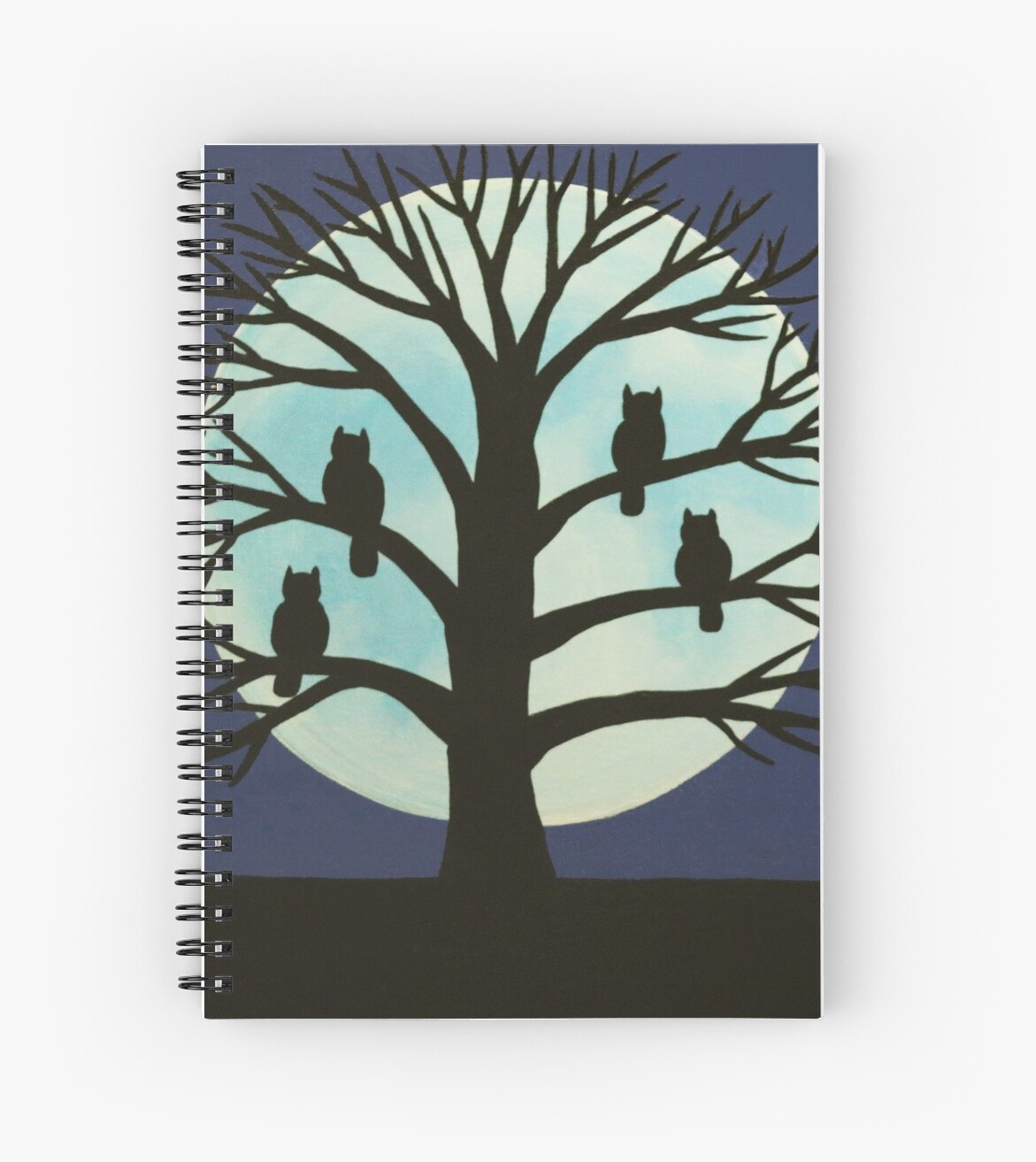 'Spooky Owl Tree' Spiral Notebook