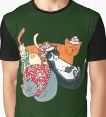 Cute Chrstmas Cats Graphic T-Shirt