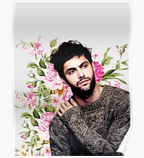 Matthew Daddario and flowers Poster