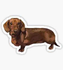 Daschund Dog - Teddy Sausage Dog Sticker