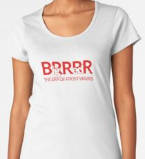 Big Red BRRR - Frost Football Women's Premium T-Shirt