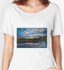 Blue Landscape with Dramatic Sky Women's Relaxed Fit T-Shirt