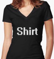 Black shirt Shirt Women's Fitted V-Neck T-Shirt