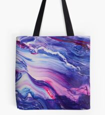 Tranquil Swirls Hybrid Painting Tote Bag