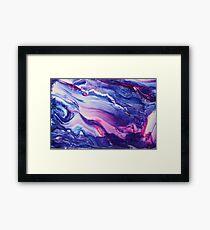 Tranquil Swirls Hybrid Painting Framed Print