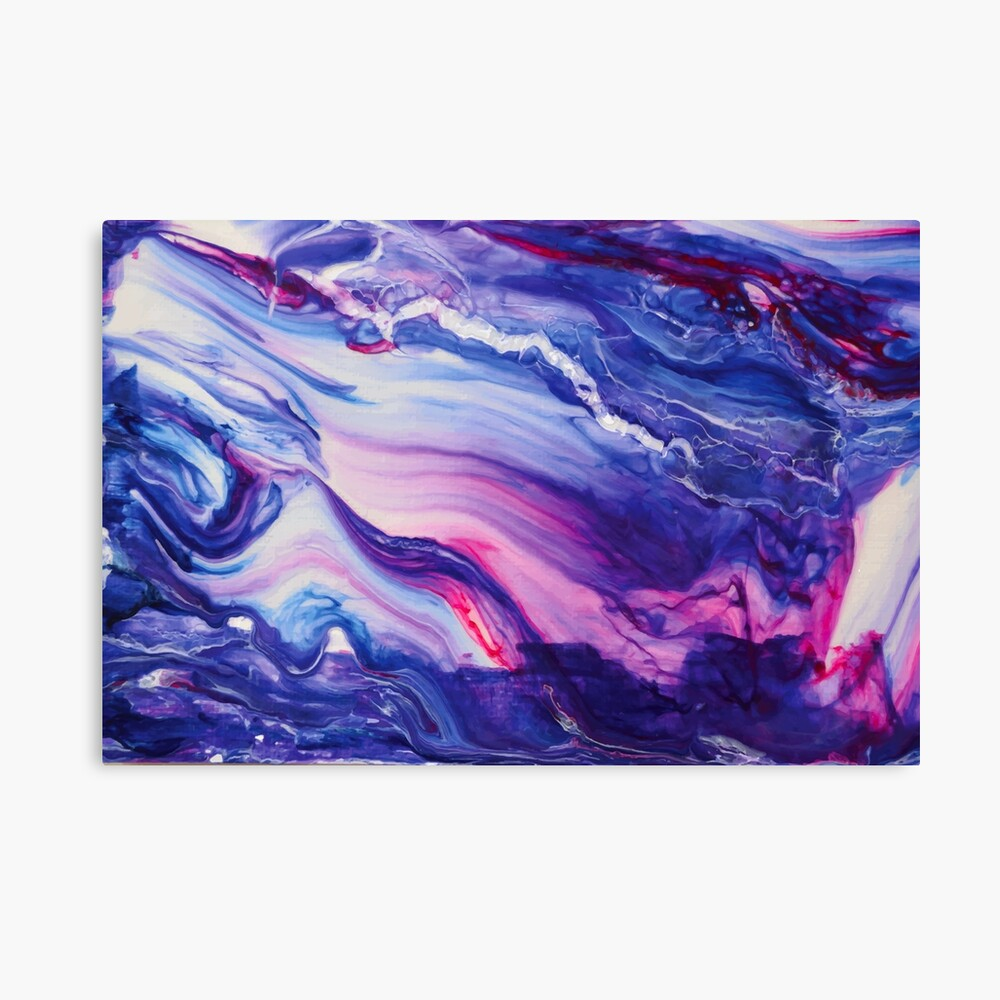 Tranquil Swirls Hybrid Painting Canvas Print