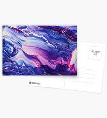 Tranquil Swirls Hybrid Painting Postcards