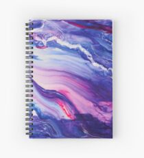 Tranquil Swirls Hybrid Painting Spiral Notebook