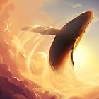 Sunset whale by tiphs