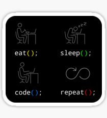Eat Sleep Code Repeat Sticker