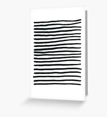 Stripey Black and White Stripes Greeting Card