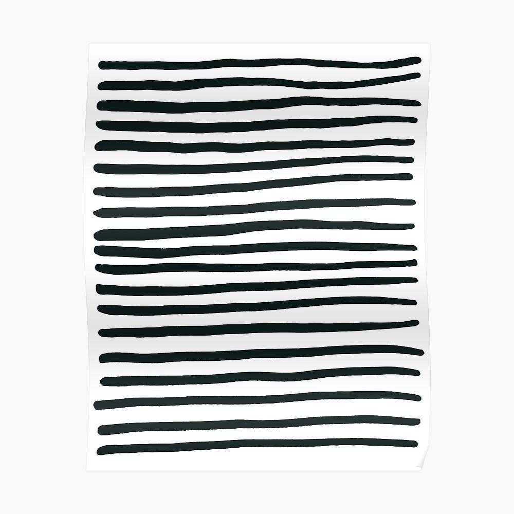 Stripey Black and White Stripes Poster