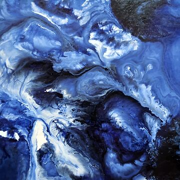 Blue Swirling Waters- Painting by LSchulz19
